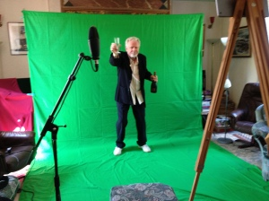 Peter May filming against Green Screen for music videos