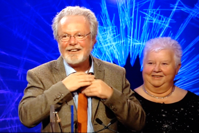 Peter May and Val McDermid at ITV Specsavers Crime Thriller Awards