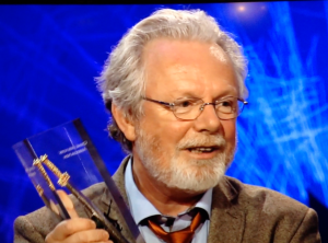 Peter May with ITV Specsavers Dagger Award for the Crime Thriller Club Best Read of 2014
